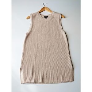 BANANA REPUBLIC Knitted Cream Split Tank Large